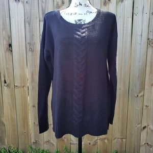 Joe Fresh Black Cable Knit Sweater Size L